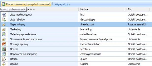 Microsoft Dynamics CRM - SiteMap