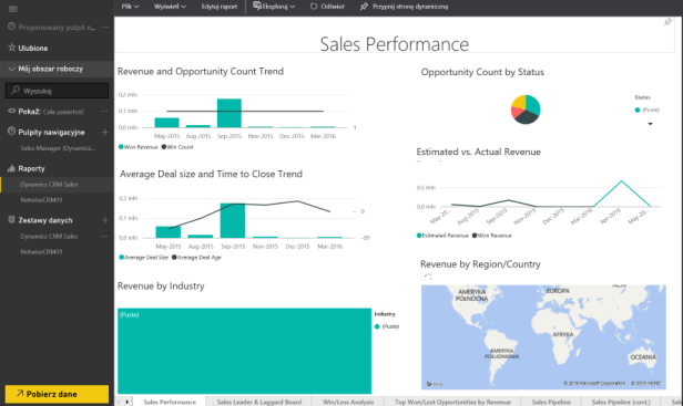 Dynamics CRM 2016 - Power BI